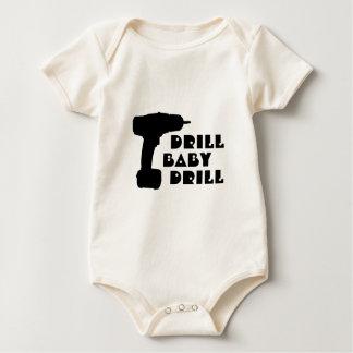 ドリルのベビーのドリルのワイシャツ ベビーボディスーツ