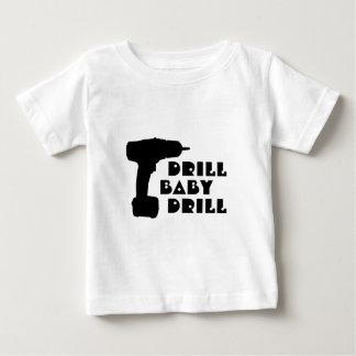 ドリルのベビーのドリルのワイシャツ ベビーTシャツ