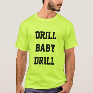 ドリルのベビーのドリルの安全緑のTシャツ Tシャツ
