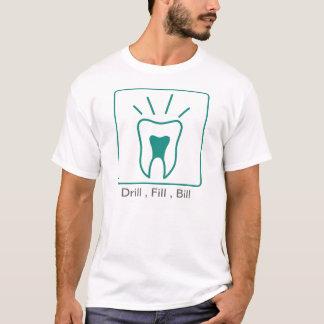 ドリルの盛り土手形 Tシャツ