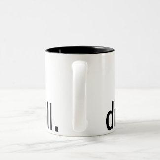 ドリルの設計のコーヒー・マグ ツートーンマグカップ