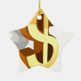 ドルのイメージ セラミックオーナメント