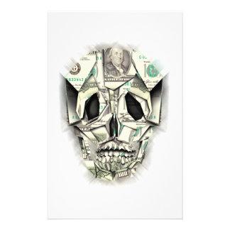 ドルのスカルのデザイン 便箋