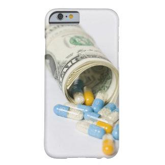 ドルのノートおよびカプセルのロール BARELY THERE iPhone 6 ケース