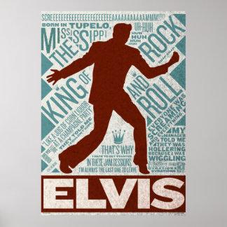 ドルの四つ組のElvisの百万のタイプ ポスター
