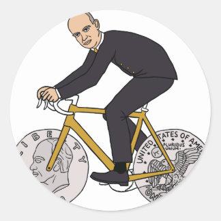 ドルの硬貨の車輪が付いているバイクのDwight Eisenhower ラウンドシール
