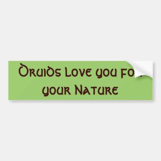 ドルイド教司祭愛あなたの自然のための バンパーステッカー