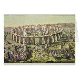 ドルイド教司祭、plのStonehenge、か円の寺院 カード