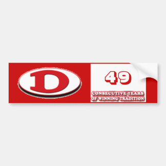 ドルトンのフットボール49の勝利年 バンパーステッカー