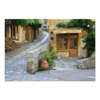 ドルドーニュ県、フランスののTownscape写真のプリント フォトプリント
