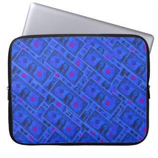 ドル札の青いラップトップスリーブ ラップトップスリーブ