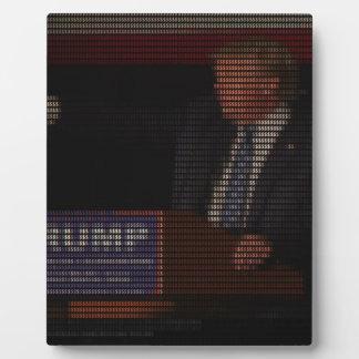 ドル記号から成っているドナルド・トランプのイメージ フォトプラーク