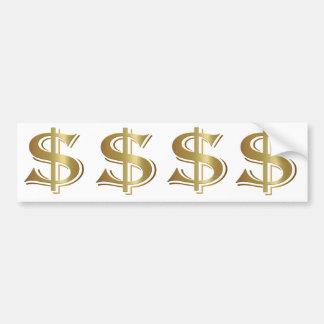 ドル記号のバンパーステッカー バンパーステッカー