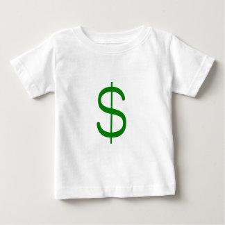 ドルSign$の黄色緑のピンク ベビーTシャツ