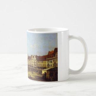 ドレスデンバーナードBellottoの古い市場が開かれる広場 コーヒーマグカップ