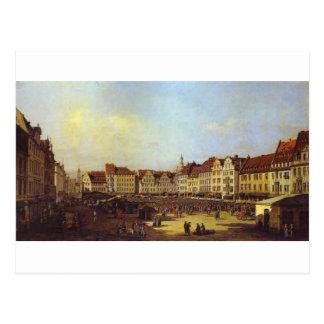 ドレスデンバーナードBellottoの古い市場が開かれる広場 ポストカード