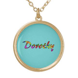 ドロシーの円形のネックレス ゴールドプレートネックレス