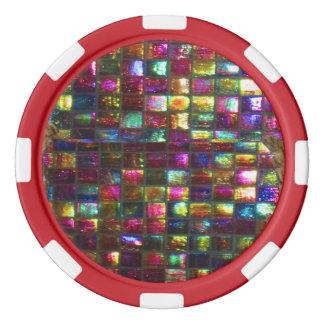 ドロップダウンDIY 256の背景nの端色の選択 ポーカーチップセット