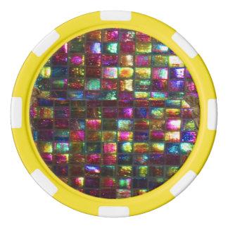 ドロップダウンDIY 256の背景nの端色の選択 ポーカーチップ