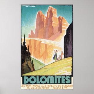 ドロマイトのヴィンテージ旅行ポスター ポスター