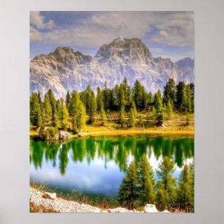 ドロマイト山イタリア ポスター