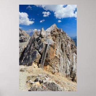 ドロマイト- Costabellaの隆起部分 ポスター