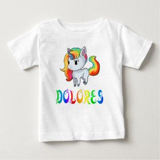 ドロレスのユニコーンのベビーのTシャツ ベビーTシャツ