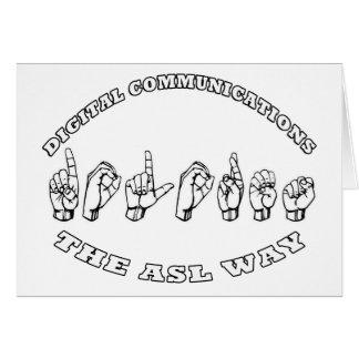 ドロレス- ASLの方法-デジタル通信の名前 カード