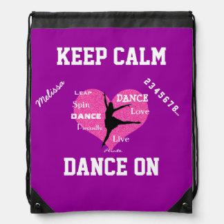 ドローストリングのバックパックの穏やかなダンスを保って下さい ナップサック