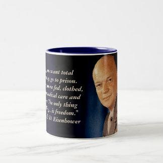 ドワイト・D・アイゼンハワーの引用文のマグ ツートーンマグカップ