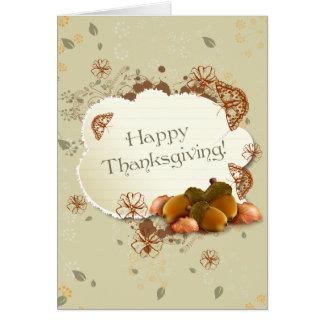 ドングリが付いているカスタマイズ可能な感謝祭カード カード