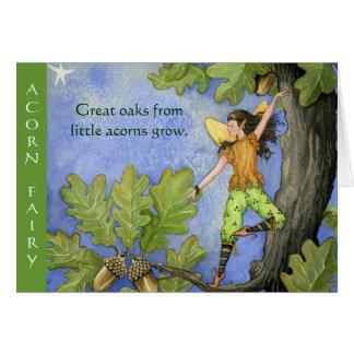 ドングリの妖精のnotecard グリーティングカード