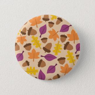 ドングリの標準、2つの¼のインチの円形ボタン 5.7CM 丸型バッジ