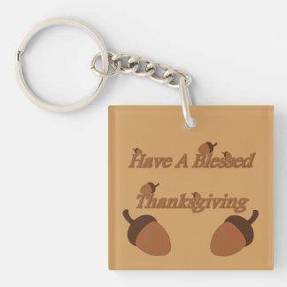 ドングリの~に賛美された感謝祭があります キーホルダー