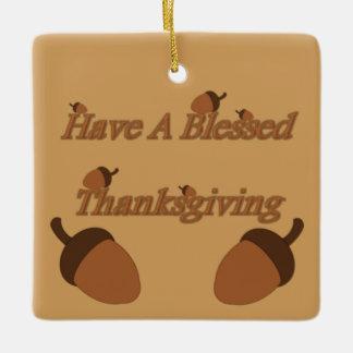 ドングリの~に賛美された感謝祭があります セラミックオーナメント