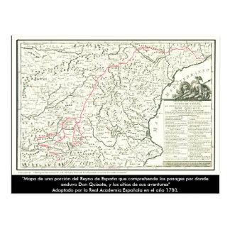 ドン・キホーテルートマップ-セルバンデス ポストカード
