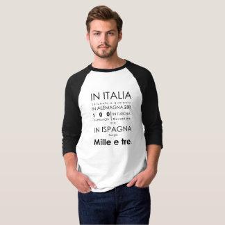 ドン・ジョヴァンニオペラTシャツの黒の袖 Tシャツ