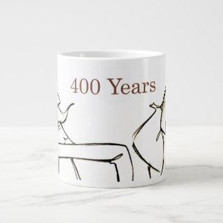 ドンQUIJOTE及びSANCHO-の400年の友人 ジャンボコーヒーマグカップ