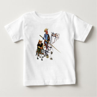 ドンQUIJOTE、SANCHOのROCINANTE-のTシャツCamiseta ベビーTシャツ