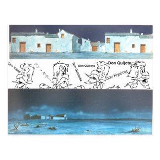 ドンQUIXOTEの漫画のアニメーションBackground (1979年) ポストカード