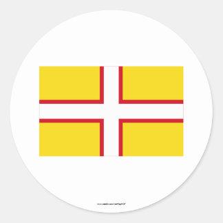 ドーセットの旗 ラウンドシール