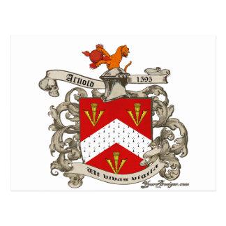 ドーセット、イギリスのリチャードアーノルドの紋章付き外衣 ポストカード