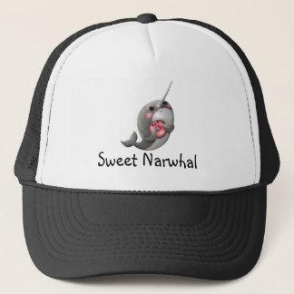 ドーナツとの内気なNarwhal キャップ
