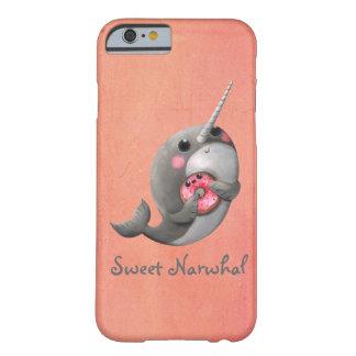 ドーナツとの内気なNarwhal Barely There iPhone 6 ケース