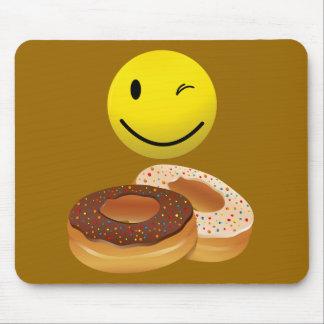 ドーナツのために熱望したドーナツおよびスマイリーフェイス マウスパッド