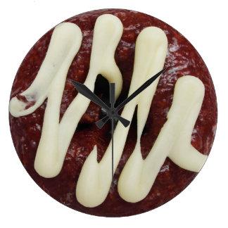 ドーナツのためのよい常に時間 ラージ壁時計