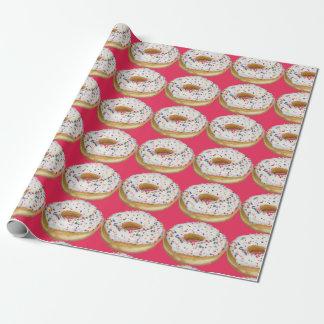 ドーナツの包装紙と興奮して下さい ラッピングペーパー
