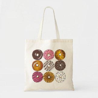 ドーナツドーナツの朝食のグルメドーナツ戦闘状況表示板 トートバッグ