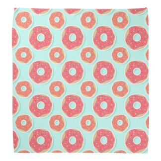 ドーナツドーナツパターン、ピンクおよび青 バンダナ