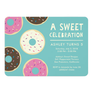 ドーナツパーティの招待状 カード